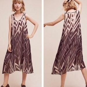 4/$20 Anthro Floreat Serengeti Lined Silk Dress S